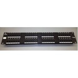 PATCH PANEL PER ARMADI RACK 19P. 48 PORTE UTP CAT.5 AMP 557872-1