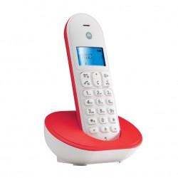 T101 MOTOROLA TELEFONO CORDLESS COLORE ROSSO/BIANCO