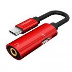 CAVO USB TIPO C / USCITA CUFFIA MINIJACK 3,5 STEREO CON PORTA DI RICARICA