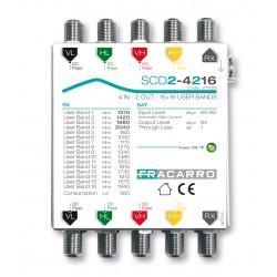 SCD2-4216LTP FRACARRO MULTISWITCH 4 INGRESSI 2 USCITE DCSS