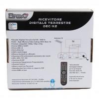 DEC-X2 BRAVO DECODER DVB-T2 HD DA TAVOLO CON USB E CAVO HDMI