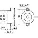 BUZZER MINI 32x14mm 3/24V CON OSCILLATORE