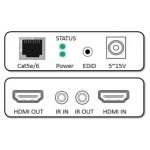 EXTENDER HDMI CAT.5/CAT.6 FINO A 50MT CON 1 CAVO ETHERNET E TRASMETTITORE I.R.