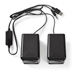 COPPIA ALTOPARLANTI AMPLIFICATA 18W ALIMENTAZIONE PORTA USB