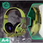 A4 TUCCI CUFFIA GAMING PER PC CON MICROFONO CONNETTORE SINGOLO DA 3,5mm 4 POLI