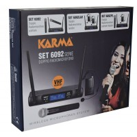 SET6092LAV KARMA KIT RADIOMICROFONO VHF 2 CANALI CON 2 MICROFONI LEVALIER