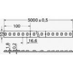 STRIP LED 24V 14.4W/MT IP20 RGB LED2835 R:620/G:520/B:460LM/MT 60 LED/MT 120GRADI BOBINA 5 MT