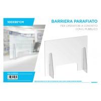 BARRIERA PARAFIATO PER OPERATORI A CONTATTO CON IL PUBBLICO 100x80cm